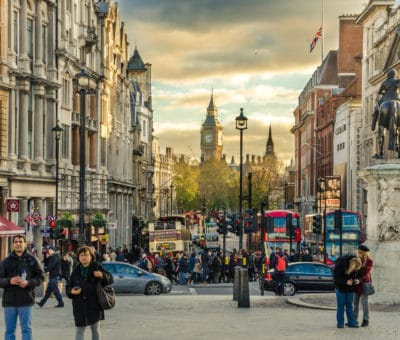 London,,Uk,-,December,6,,2013:,View,Of,Whitehall,Crowed